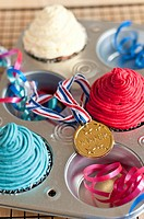 Cupcakes and a medal England