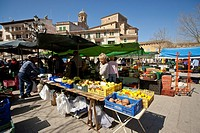 Weekly outdoor market llucmajor Mallorca Spain Balearic Islands