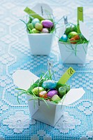 Easter sweets in take_away boxes