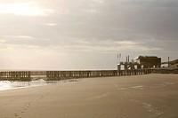 Beach with breakwater, Walcheren, Netherlands