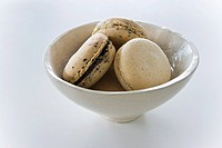 A bowl of sesame seed and Earl Grey macaroons