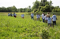 Detroit, Michigan - Students from Neinas elementary school on a field trip in Rouge Park