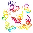 beautiful abstract background with butterflies. Beautiful vector illustration.