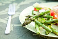 Delicious green grilled asparagus