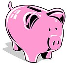 illustration of a Pink piggy bank