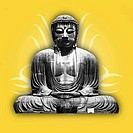 Buddha on Yellow