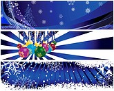 Vector Christmas New Year banners for design use