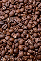 Close up of group coffee beans