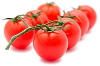 Fresh tomatoes isolated on whtie background