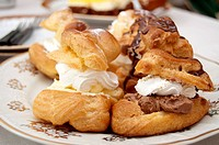 Hungarian creamy doughnuts on a plate