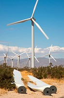 Wind mills generating ecological and alternative energy