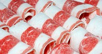 Fresh beef meat texture red background