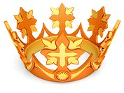 Royal crown from gold a symbol of authority