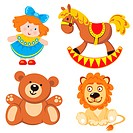 set of vector images. Children´s toys