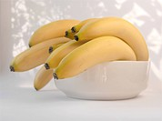bunch of bananas in a bowl