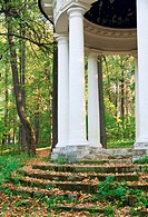 Classical summerhouse in estate Sukhanovo, near Moscow, Russia