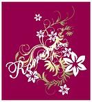 foil scroll romance pattern
