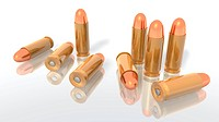 a 3d rendering of some bullets