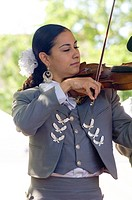 Fiesta De Santa Fe, New Mexico. A Celebration Started In 1712 To Celebrate The Peaceful Retaking Of The City From The Pueblo People In 1692. Mariachi ...