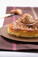 Torta di zucca pumpkin cake with amaretti