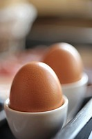 Two eggs in egg cups