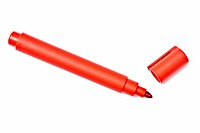 Red highlighter isolated on white background