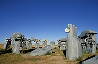Nebraska. Alliance. Carhenge. Close_Up. Designed In 1987 By Reinders Family.