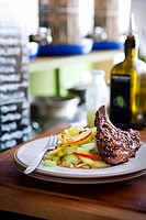 Lamb cutlet with sumach and apple_celery salad