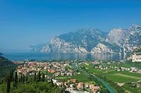 View of Torbole on Lake Garda, province of Trento, Trentino, Italy, Europe