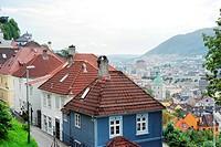 beautiful city view of Bergen, Norway