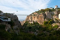 Pont Sidi M'Cid bridge over the Oued Rhumel gorge in Constantine, Algeria, Africa