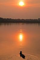 Mekong sunset, Vientiane, Laos