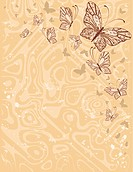 beautiful abstract background with butterflies