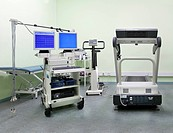 Rehabilitation Center. Treatment room. An ECG, electrocardiogram, cardiogram, electronic equipment, testing and analysis of heart performance. Technol...