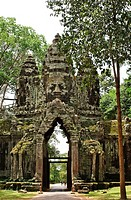 Gate to the temple of Angkor Wat