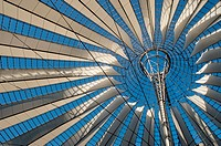 Roof of the Sony Center, built in 4 years, from 1996 to 2000