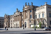 Berlin State Library, Bebelplatz, Berlin, Germany, Europe
