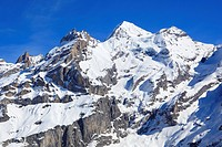 Alps, Alpine, panorama, view, mountain, mountains, massif, mountain panorama, Bern, Bernese Alps, Bernese Oberland, Blüemlisalp Rothorn, Blüemlisalpho...