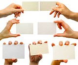 a card blank in a hand