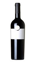 Bottle of wine isolated on 100 white background