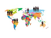 business illustration of the world