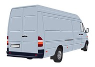 Vector illustration of bussines cargo van