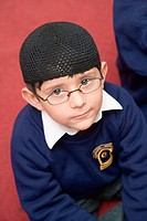 Pupil at the Nottingham Islamia school,