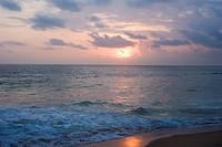 Sunset in the Indian ocean, Sri Lanka
