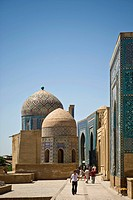 Uzbekistan, Samarkand, Shoi Zinda mausoleum