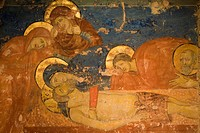 europe, italy, tuscany, siena, cathedral, crypt, fresco, christ