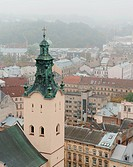 City _ the top view. The city of Lvov the country Ukraine