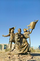 Sculpture garden at Albuquerque Museum of Art & History, New Mexico shows Coronado