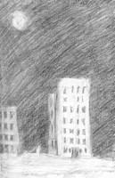 Urban scene at night
