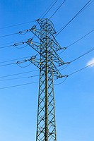 Electric high voltage power post.